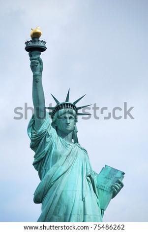 American symbol - Statue of Liberty. New York, USA. - stock photo
