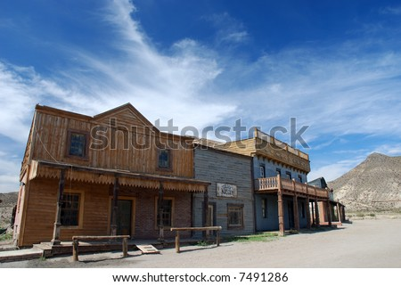 American western town - stock photo