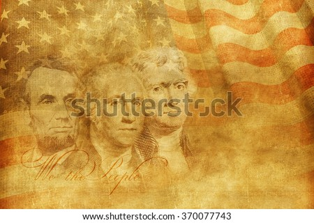 Americas Founding Fathers Concept Illustration. United States of America Concept Background Illustration. - stock photo