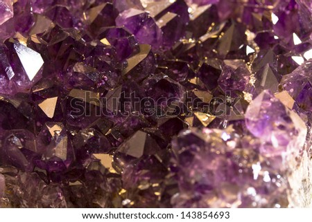 amethyst crystal in detail - stock photo