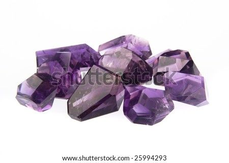 Amethyst Freeforms - stock photo