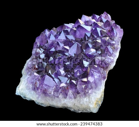 Amethyst from Brazil.  - stock photo
