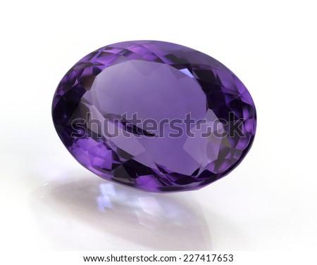 Amethyst gemstone - stock photo