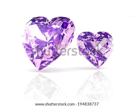 amethyst on white background with high quality - stock photo