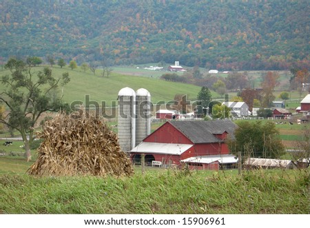 Amish farm in central Pennsylvania, USA - stock photo