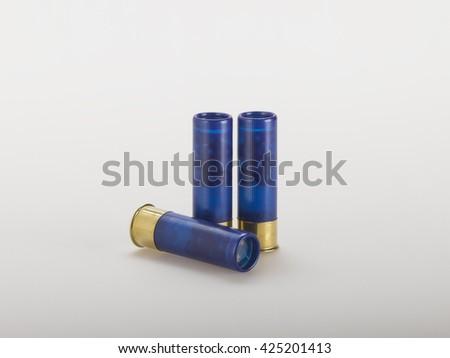 Ammunition on gray - stock photo