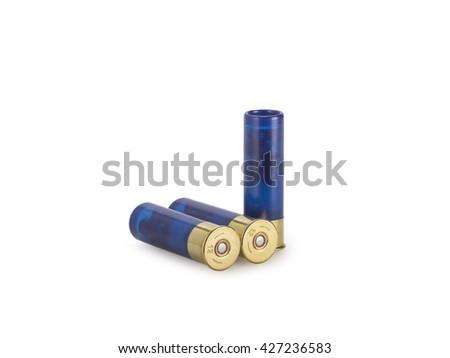 Ammunition on white - stock photo