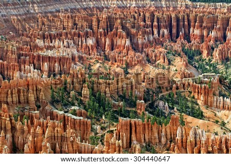 Amphitheater At Bryce Canyon National Park In Utah - stock photo