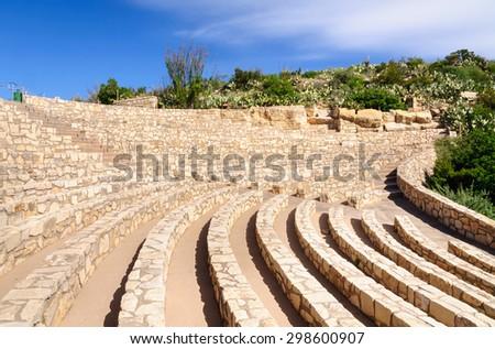 Amphitheater at Carlsbad Caverns National Park - stock photo