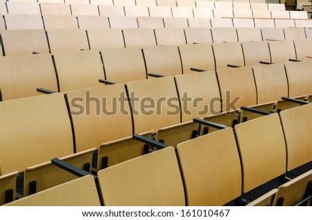 amphitheater chairs - stock photo