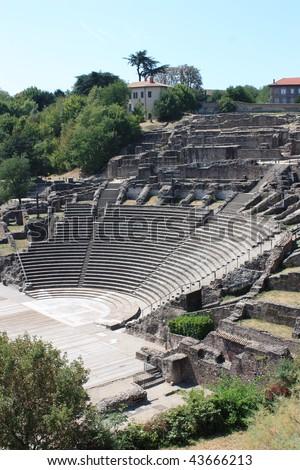 Amphitheatre des Trois Gaules - stock photo