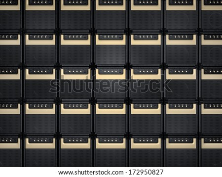 Amplifier background - stock photo