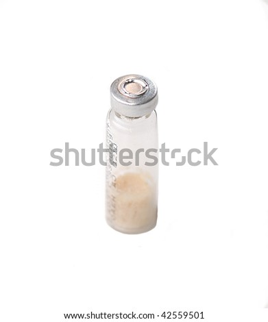 ampoule isolated on white - stock photo