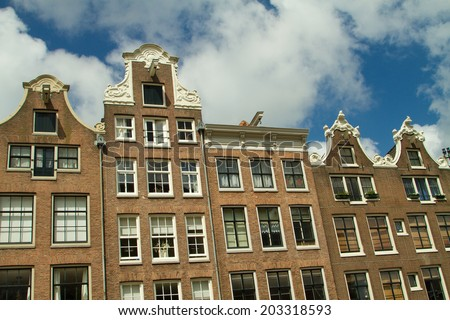 Amsterdam. beautiful places in Europe - stock photo