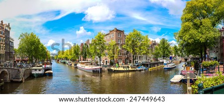 Amsterdam is the capital and most populous city of the Netherlands - stock photo