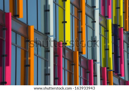AMSTERDAM - JUNE 30: Office building in the Amsterdam Zuidas (South axis) business district on June 30, 2013 in Amsterdam.The area is known as an international high level knowledge and business center - stock photo