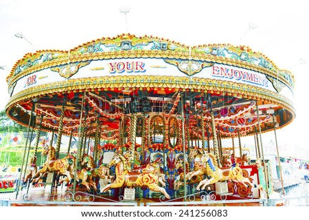amusement park - stock photo