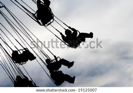 Amusement Park Ride - stock photo