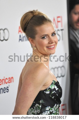 "Amy Adams at the AFI Fest premiere of her movie ""On The Road"" at Grauman's Chinese Theatre, Hollywood. November 3, 2012  Los Angeles, CA Picture: Paul Smith - stock photo"