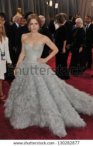 Amy Adams at the 85th Academy Awards at the Dolby Theatre, Hollywood. February 24, 2013  Los Angeles, CA Picture: Paul Smith / Featureflash - stock photo