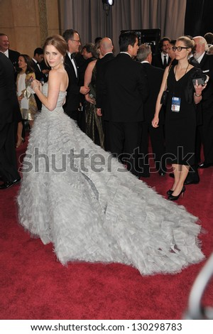 Amy Adams at the 85th Academy Awards at the Dolby Theatre, Hollywood. February 24, 2013  Los Angeles, CA Picture: Paul Smith - stock photo