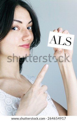 Amyotrophic Lateral Sclerosis Disease  - stock photo