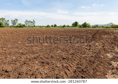 an abandoned farm in the fields of Thailand - stock photo