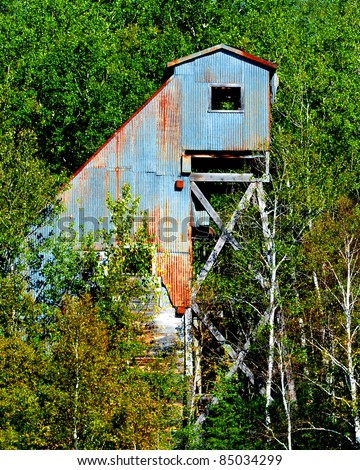 An abandoned gold mine in Northern Ontario Canada - stock photo