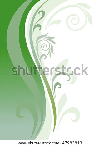 an abstract background is in green tones - stock photo