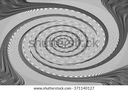 An abstract black and white spiral background image. - stock photo