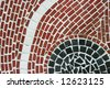 An abstract brick tile mosaic design background - stock photo