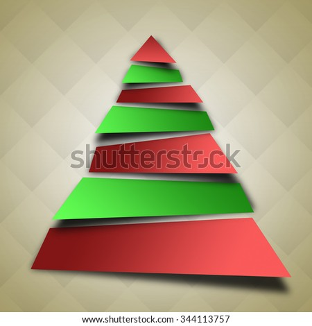 An abstract christmas tree illustration. - stock photo