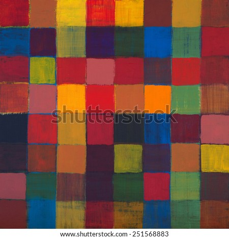 an abstract grid painting - stock photo