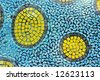 An abstract mosaic arts of different shape tiles - stock photo
