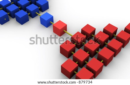 an abstract network - stock photo