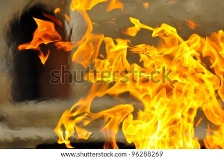 An abstract of flames - stock photo