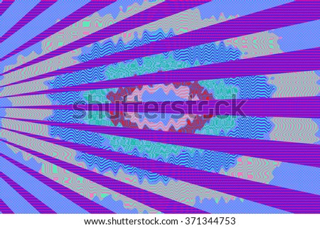 An abstract psychedelic background image.  - stock photo