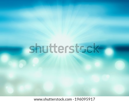 An abstract sea seascape - stock photo