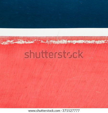 An abstract shot of the hull of a ship. - stock photo