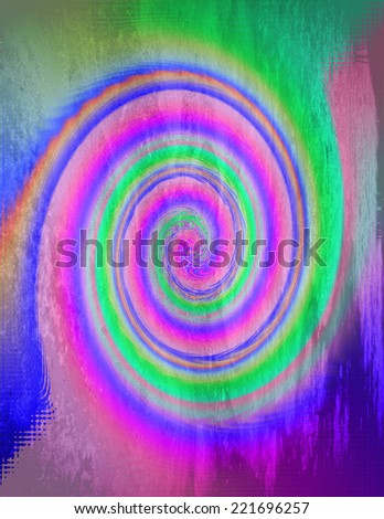 An abstract spiral background design - stock photo