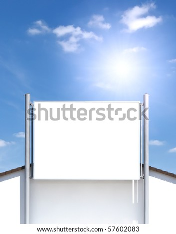 An advertising wall on a house - stock photo