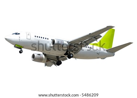 An airliner on a clean white background - stock photo