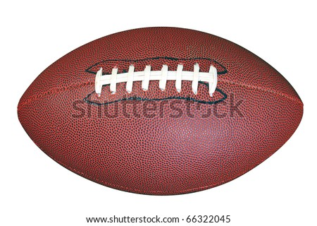 An American football isolated on white background with clipping path done using pen tool. - stock photo