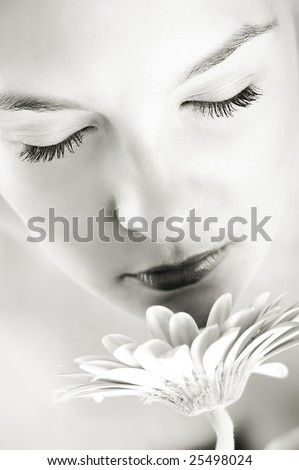 An angel trying to decipher the mystery of life... - stock photo