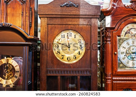 An Antique Clock old time passing . - stock photo