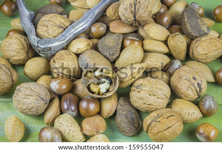 An assortment of nuts - stock photo