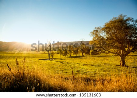 An australian sunset - stock photo