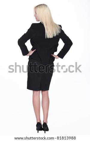 An authoritative businesswoman - stock photo