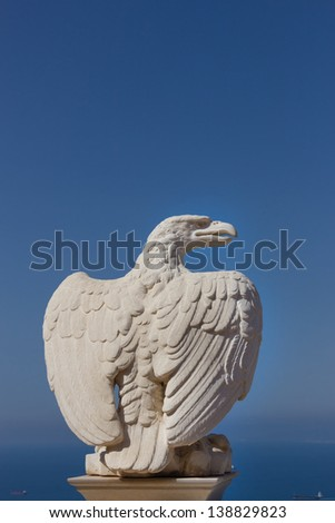 An eagle statue - stock photo
