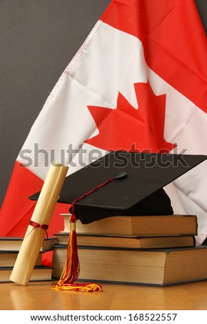 An education theme for celebrating commencement. - stock photo